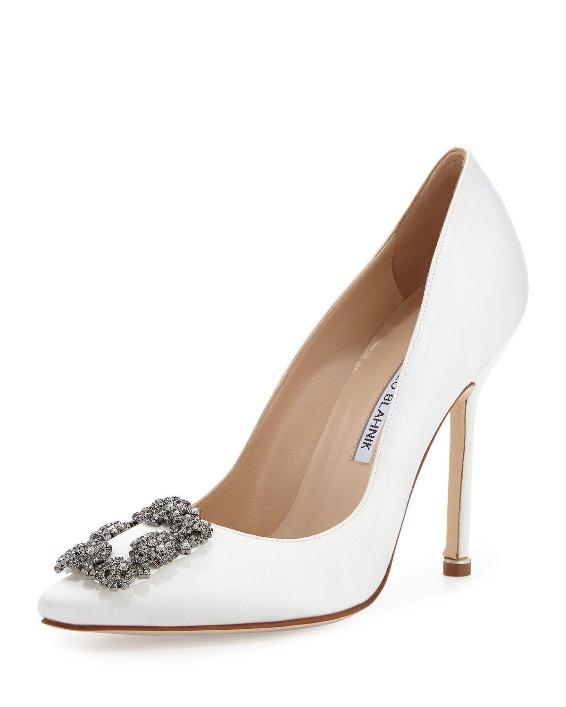 ca562064ac Hangisi' Wedding Shoes by Manolo Blahnik #weddingshoes | Wedding ...