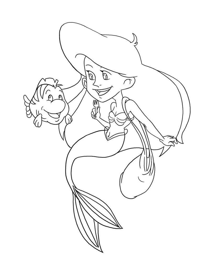Ariel and Her Sisters   Ariel and her sisters coloring pages   ARIEL ...