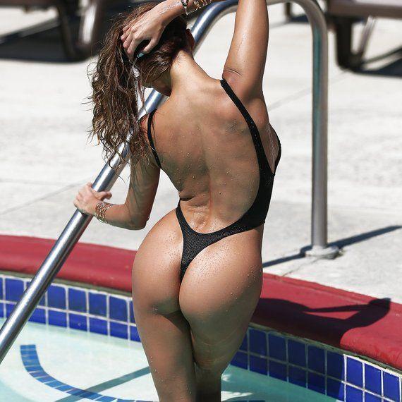 593b3d2025 Fabric One Piece Swimsuit Bodysuit Monokini Swimwear Hot Sport Black Thong  High Cut Leg Open Back Ba