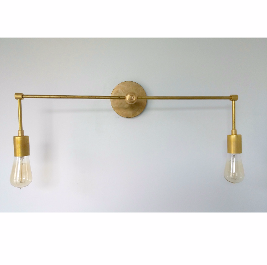 Modern Brass Sconce Brass Bathroom Lighting Modern Bathroom