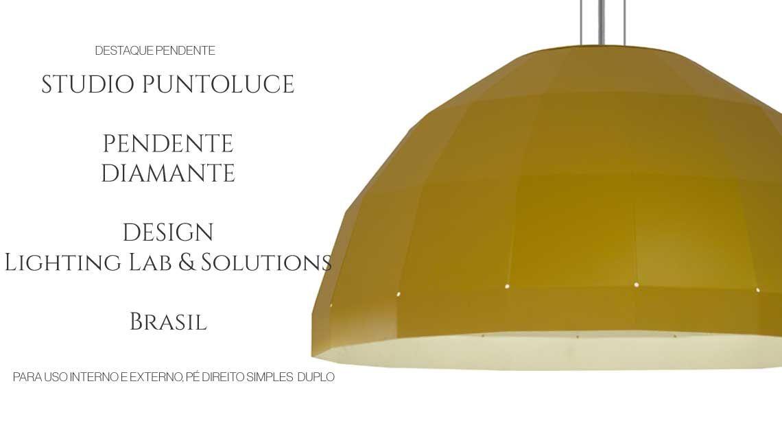 Pendente Diamante design Studio Puntoluce no Especial de Inverno De 16/07 a 20/08, Produtos Decorativos Importados e Nacionais com até 70% de desconto.  Projetos de iluminação em até 10x, sem acréscimo no cheque, para compras acima de R$ 10.000,00.