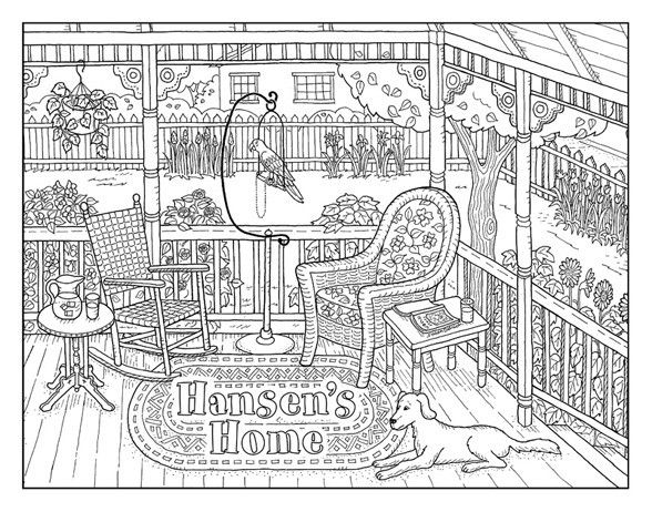 Personalized Front Porch Coloring Books Coloring Pages Personalized Coloring Book