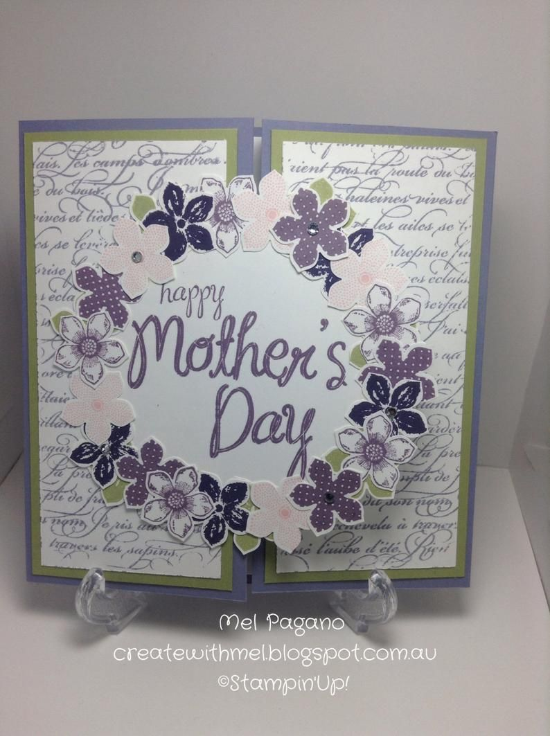 handmade mother's day card stampin' up  etsy in 2020