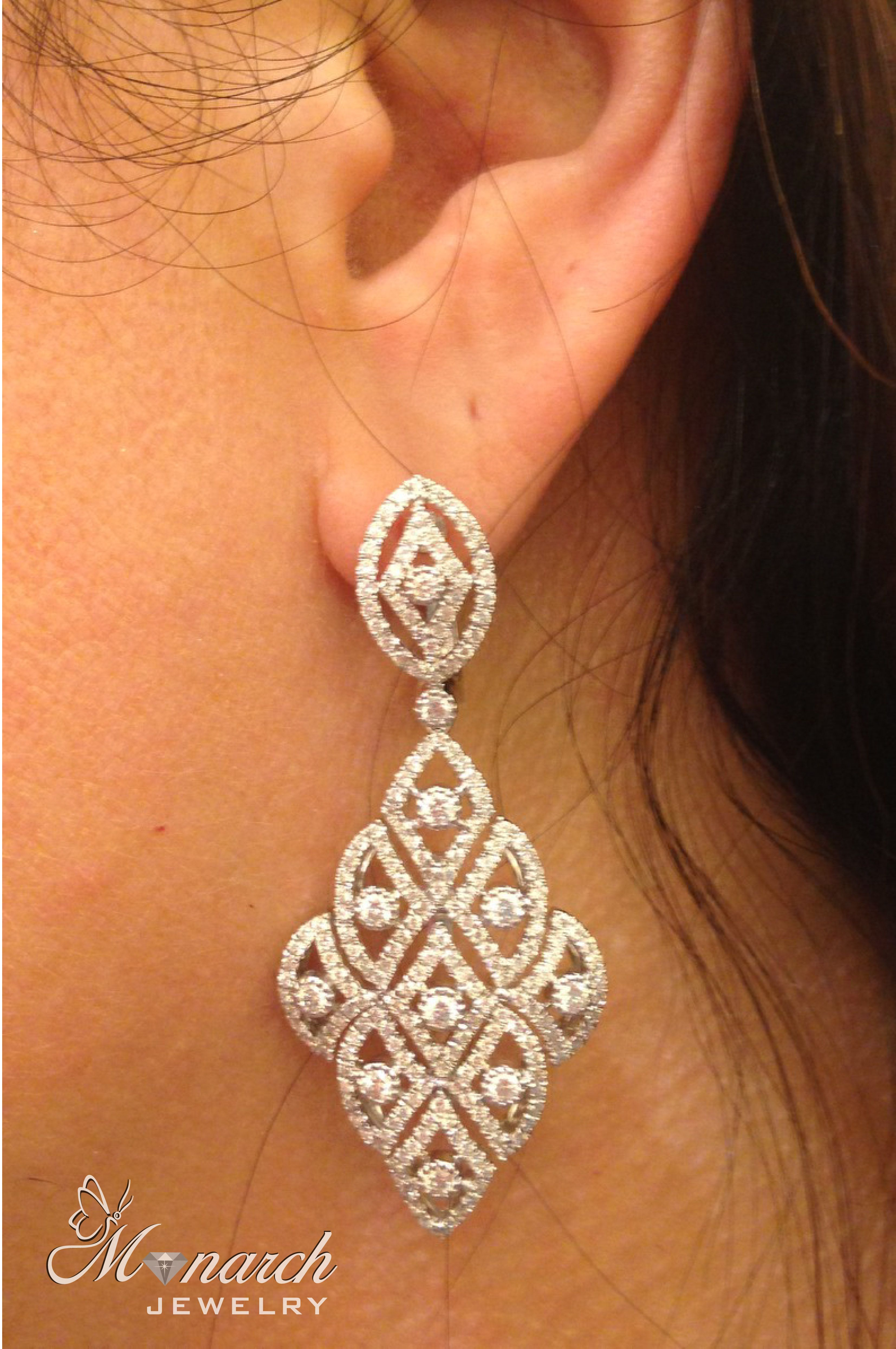 Diamond Earrings Live From Las Vegas Jck Jewelry Show With Monarch