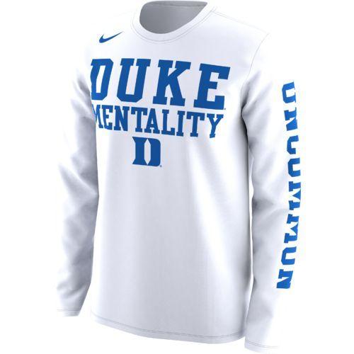 Nike Men S Duke University Basketball Legend Mentality Bench T Shirt White Size Small Ncaa Licensed Bench T Shirts University Shirt Long Sleeve Tshirt Men