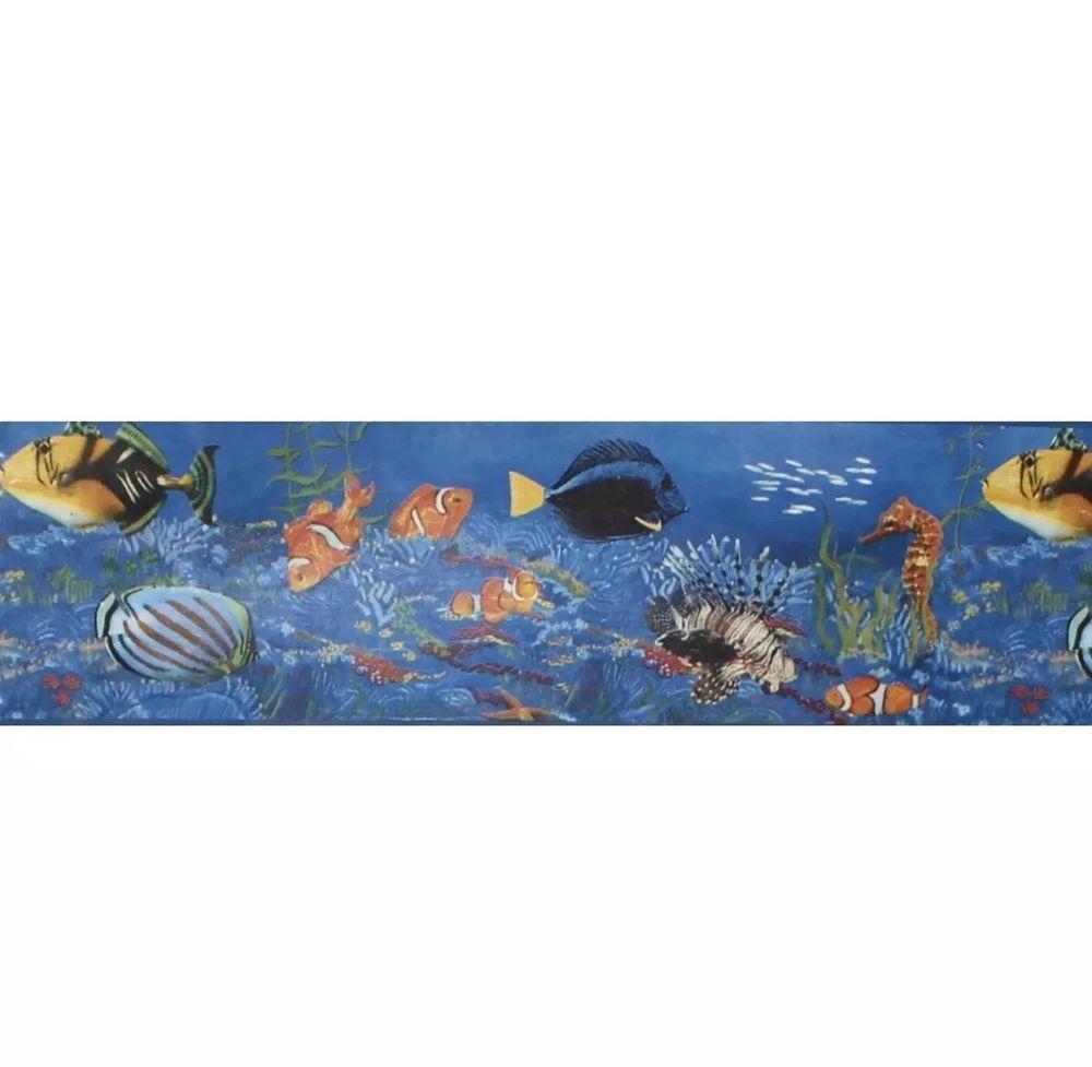 Bathroom Wallpaper Border Home Trends Wallpaper Border Tropical Fish Coral Ocean Bathroom 5 Yards Undersea Wallpaper Border Bathroom Wallpaper Ocean Bathroom