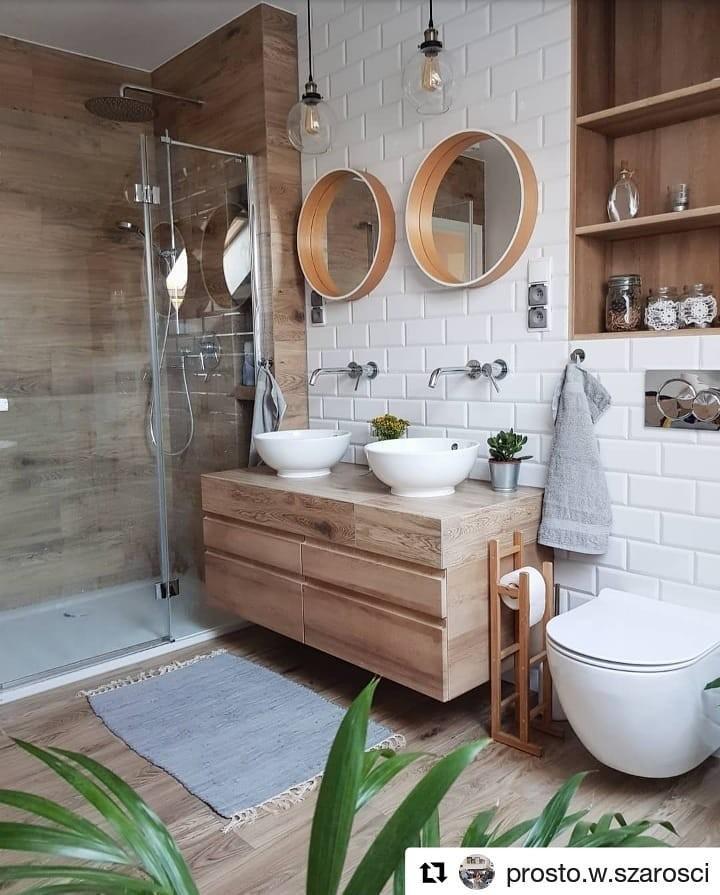 Once cuartos de baños con mucha madera para inspirarse en ...