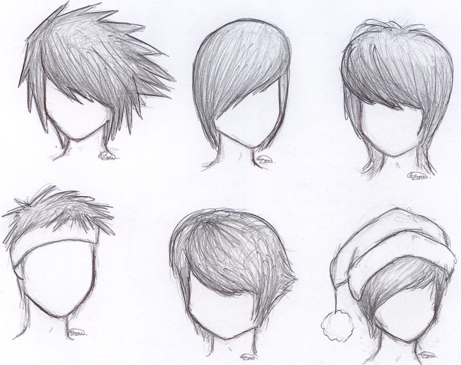 how to draw anime boy hair step by step for beginners ...