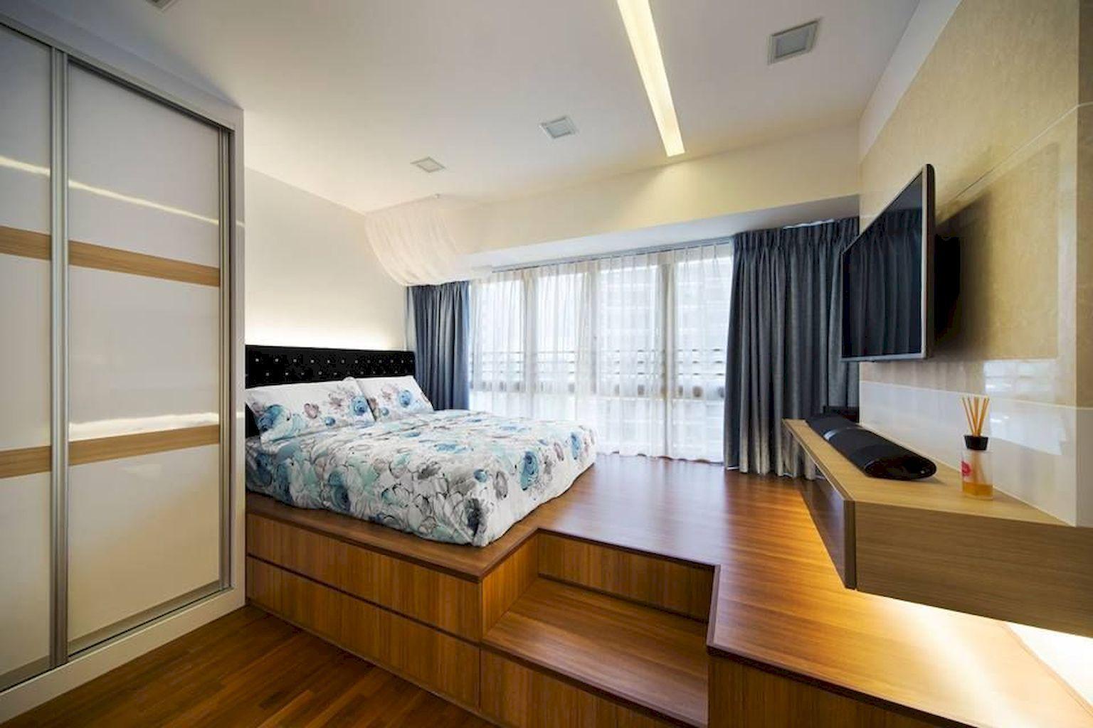 3 window bedroom ideas   minimalist platform bed design ideas  platform bed designs bed