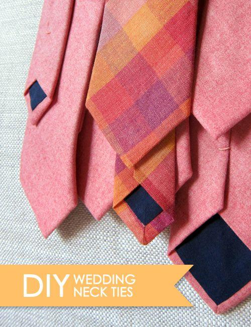 DIY Wedding Skinny Ties | Nähen für männer, Krawatten und für Männer