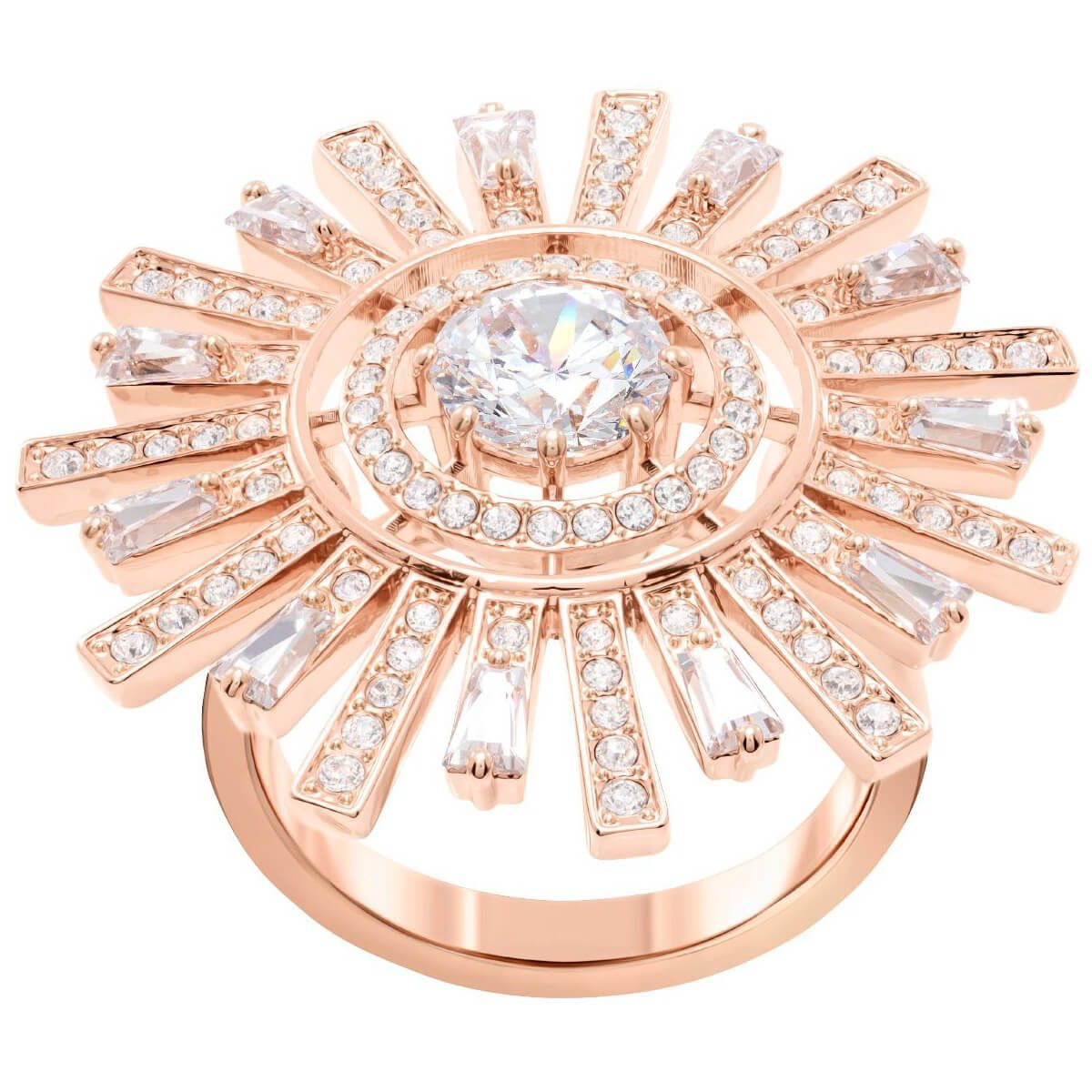 9476ee3c54688 Sunshine Cocktail Ring, White, Rose-gold tone plated in 2019 ...