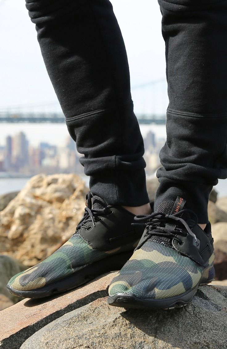 ed5f2d0f1220f Stand out in the Sperry 7 SEAS camouflage boat shoe. (Photo cred: @levitate  style)