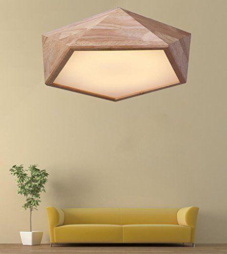AYAYA Holzlampe Led Deckenleuchte Geometrie Holz Protokolle Treibholz