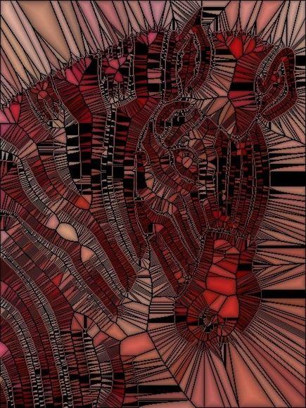 Deep Pink Zebra Mosaic by Suzanne Jones   Artfinder