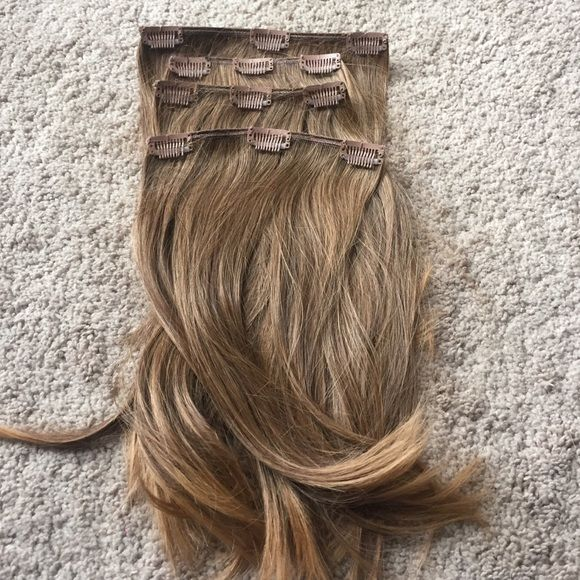 Synthetic Clip In Hair Extensions Perfect Condition Clip In