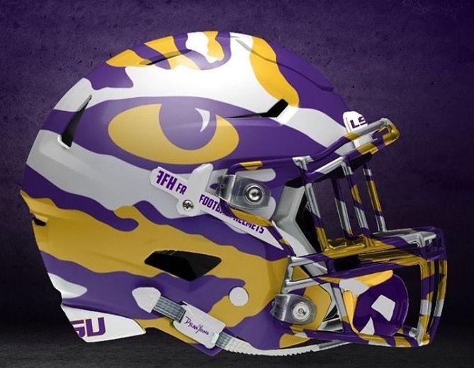 Future Lsu Football Helmet Cool Football Helmets College Football Helmets Football Helmet Design