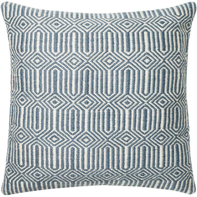 Lara Throw Pillow Cover Reviews Allmodern Geometric Pillow Blue Outdoor Pillows Throw Pillows