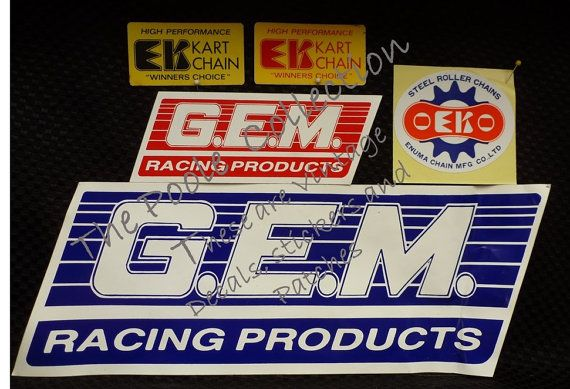 Price Reduced Vintage Karting Stickers Gem By Thepoolecollection Karting Roller Chain Vintage