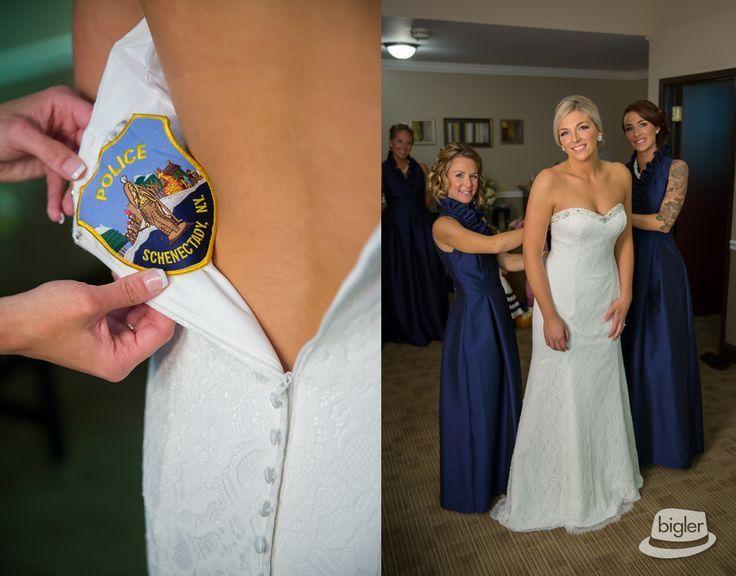 Police Bride Bridesmaids Getting Ready Wedding