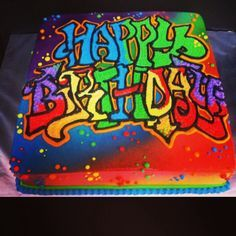splatter and graffiti cake designs - Google Search | Cake Ideas ...