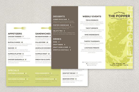 Modern Restaurant Brochure Template This clean and attractive – Restaurant Brochure Templates