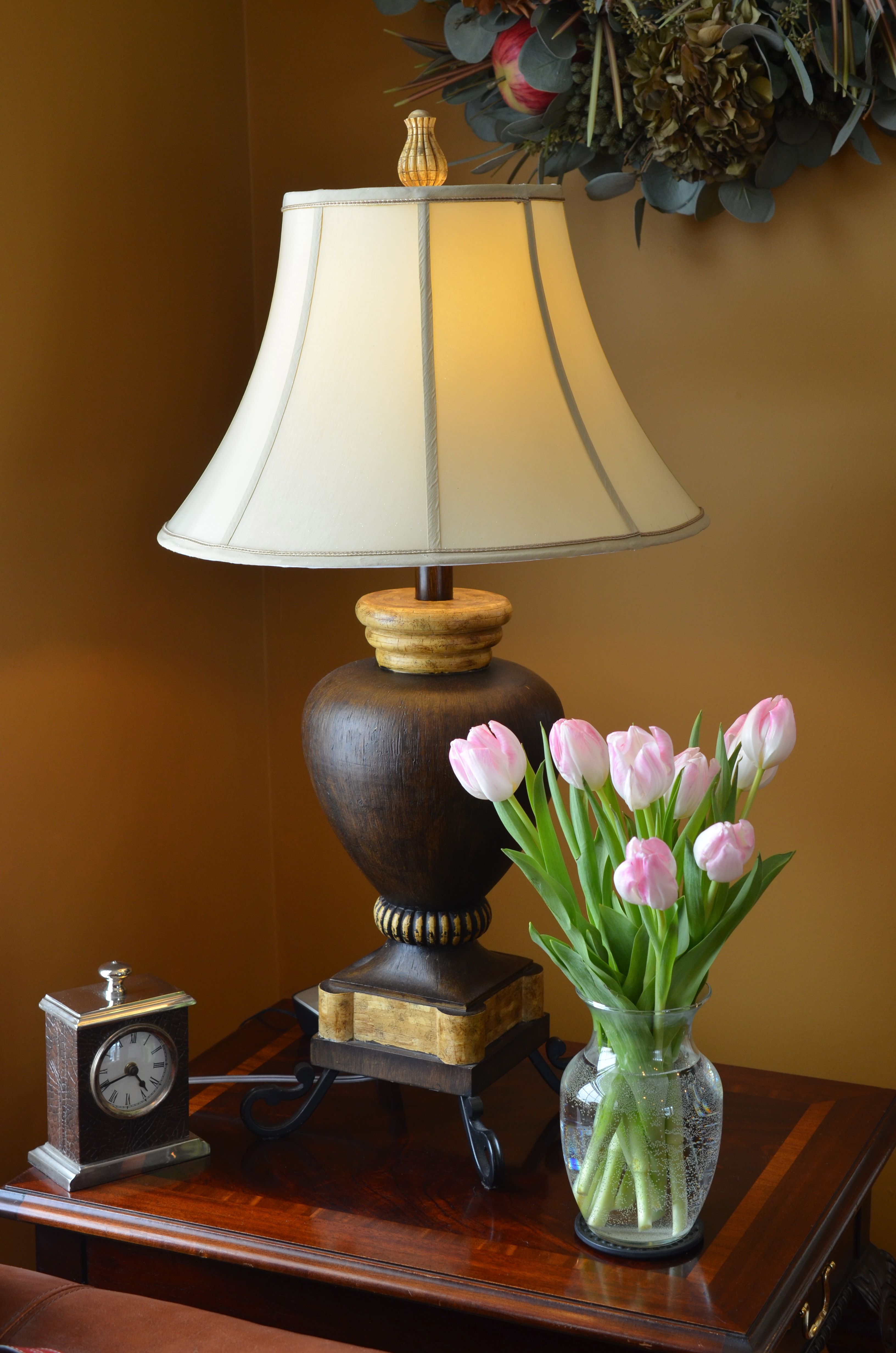 How To Get A Luxury Living Room Pt 1 Golden Lighting: Mahogany, Lamp, Table Lamp