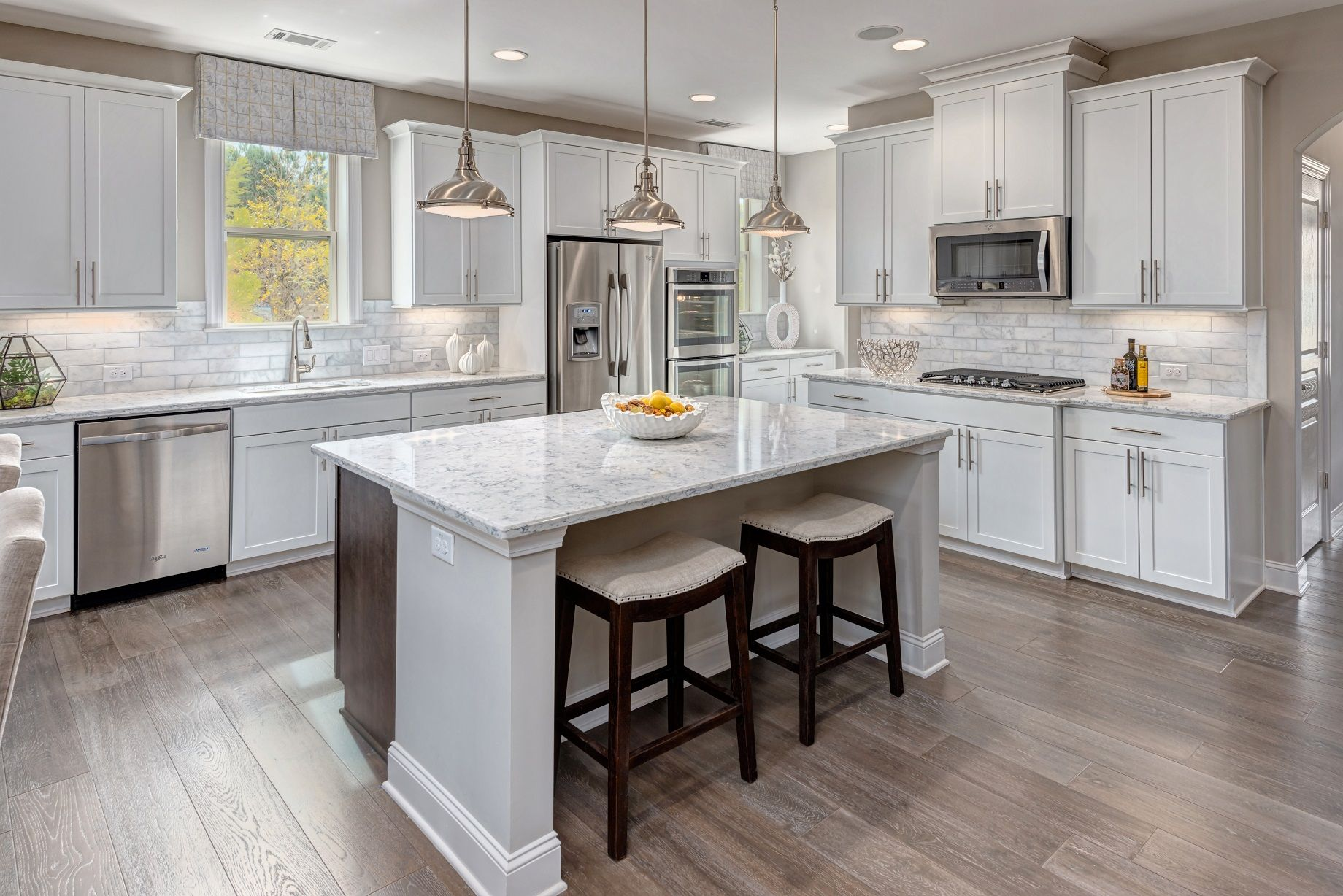 CalAtlantic Homes Featuring Fresnel Pendants By Progress Lighting · Space  KitchenNew KitchenKitchen WhitePalm DesertKitchen ...