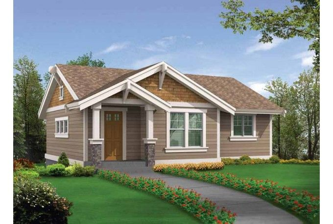 Craftsman Style House Plan 2 Beds 1 Baths 745 Sq Ft Plan 132 525 Craftsman Style House Plans Craftsman House Plans Carriage House Plans