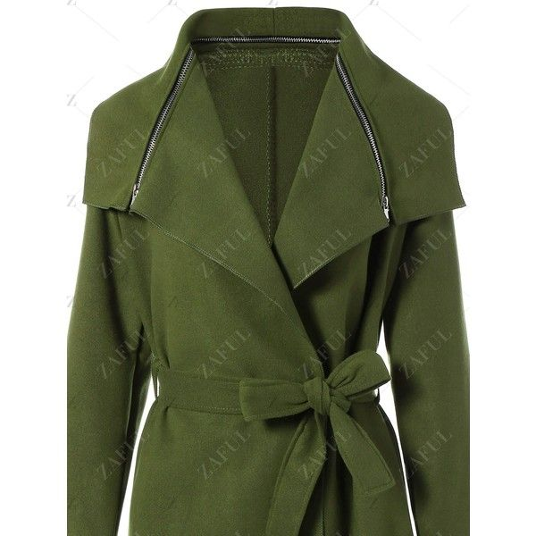 Shawl Belted Wool Blend Wrap Coat (1.940 RUB) ❤ liked on Polyvore featuring outerwear, coats, shawl wrap coat, green coat, shawl coat, wool blend coat and wool blend wrap coat