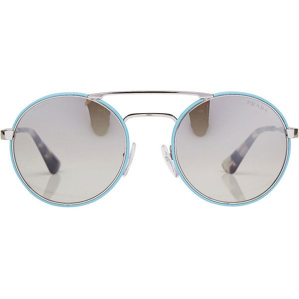 8e204eee63e Prada Round Sunglasses ( 219) ❤ liked on Polyvore featuring accessories