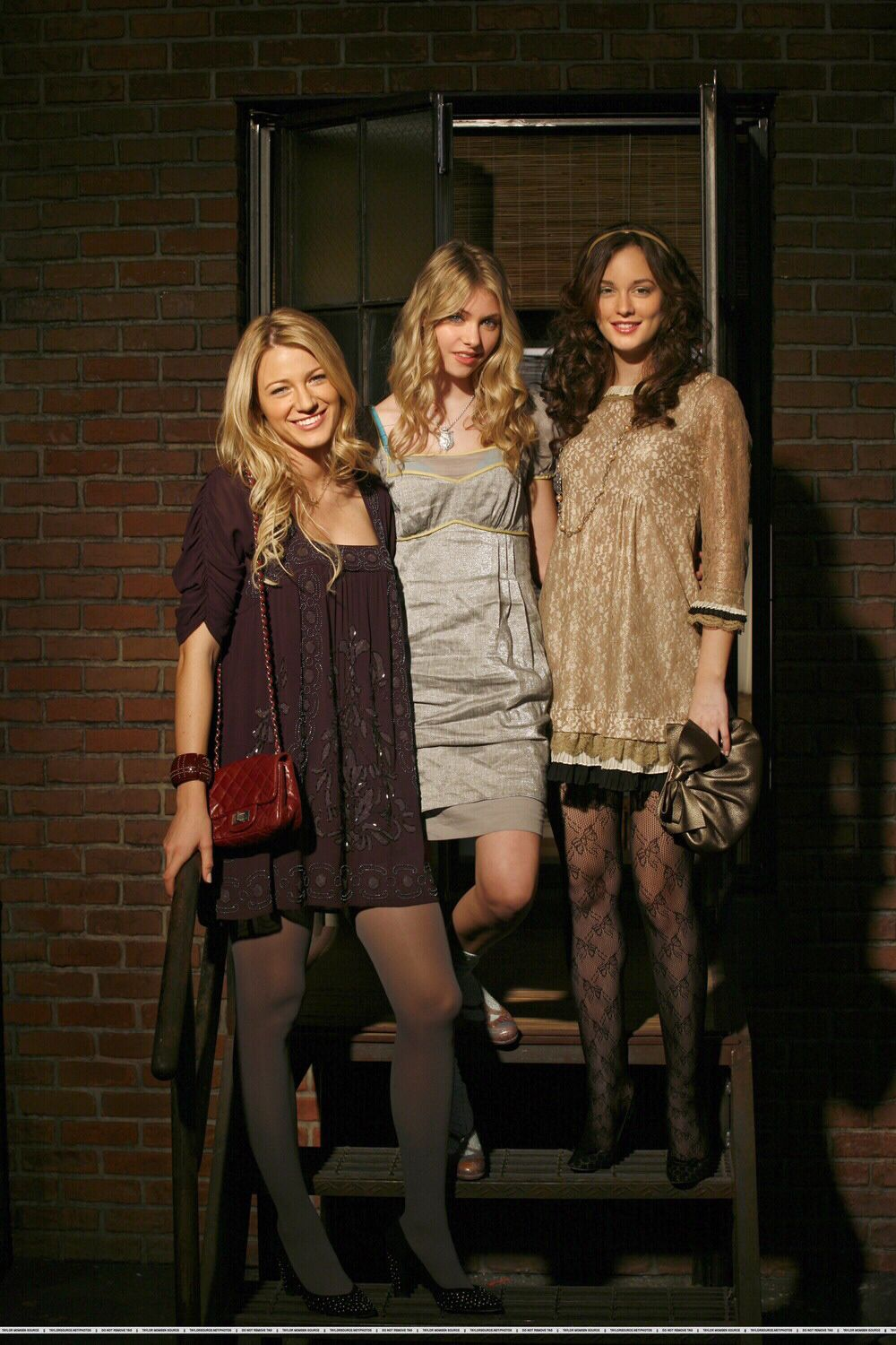 gossip girl serena  little  u0026quot j u0026quot  and blair looking glam