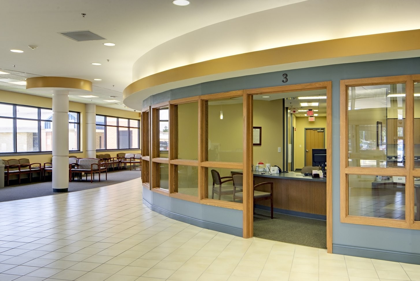 West Calcasieu Cameron Hospital Sulphur La Eloquence Side Guest Seating In Lobby Reception Area Nationaloffice Fu Lobby Reception Reception Areas Seating
