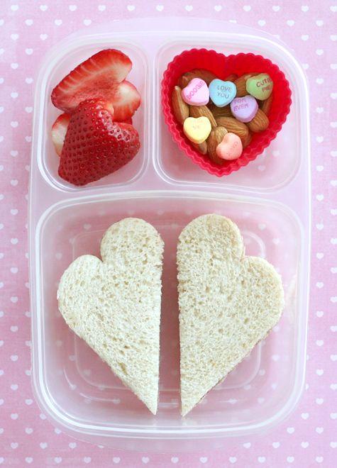 Sweet Valentine's Day bento box idea!