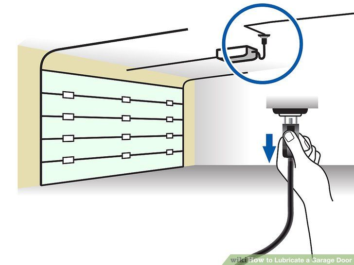 How To Lubricate A Garage Door 10 Steps With Pictures Garage Doors Garage Organisation Garage Door Maintenance