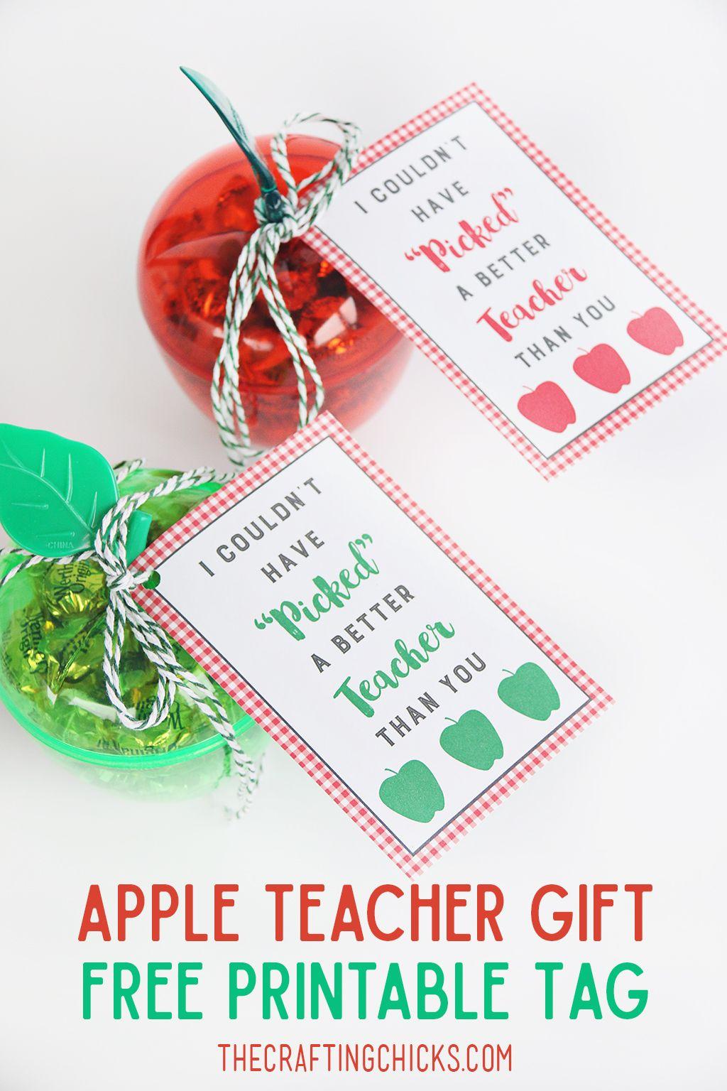 Apple Teacher T Tag Printable