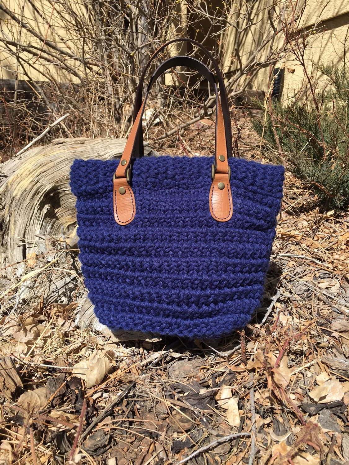 Horsetooth Handbag -- a loom knit pattern | Loom Knitting - my ...
