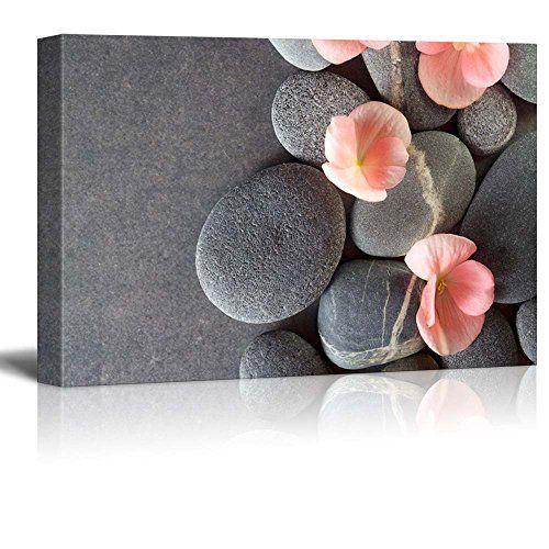 Wall26 - Peach Colored Flower on Smooth Zen Stones - Canv... https://www.amazon.com/dp/B01AXOZSRC/ref=cm_sw_r_pi_dp_x_LAOiybZVTDG1C