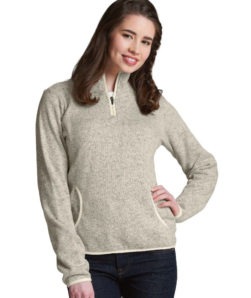 Women's Heathered Fleece Pullover | Sweater Weather | Pinterest ...