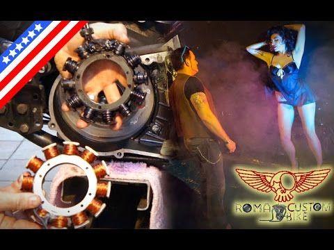 Harley Davidson rotor and stator repair replacement - ep21 eng - Roma Custom Bike - YouTube
