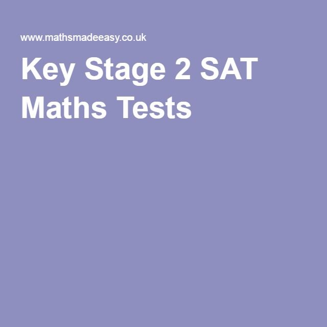 Key Stage 2 SAT Maths Tests   Maths - Problem of the month