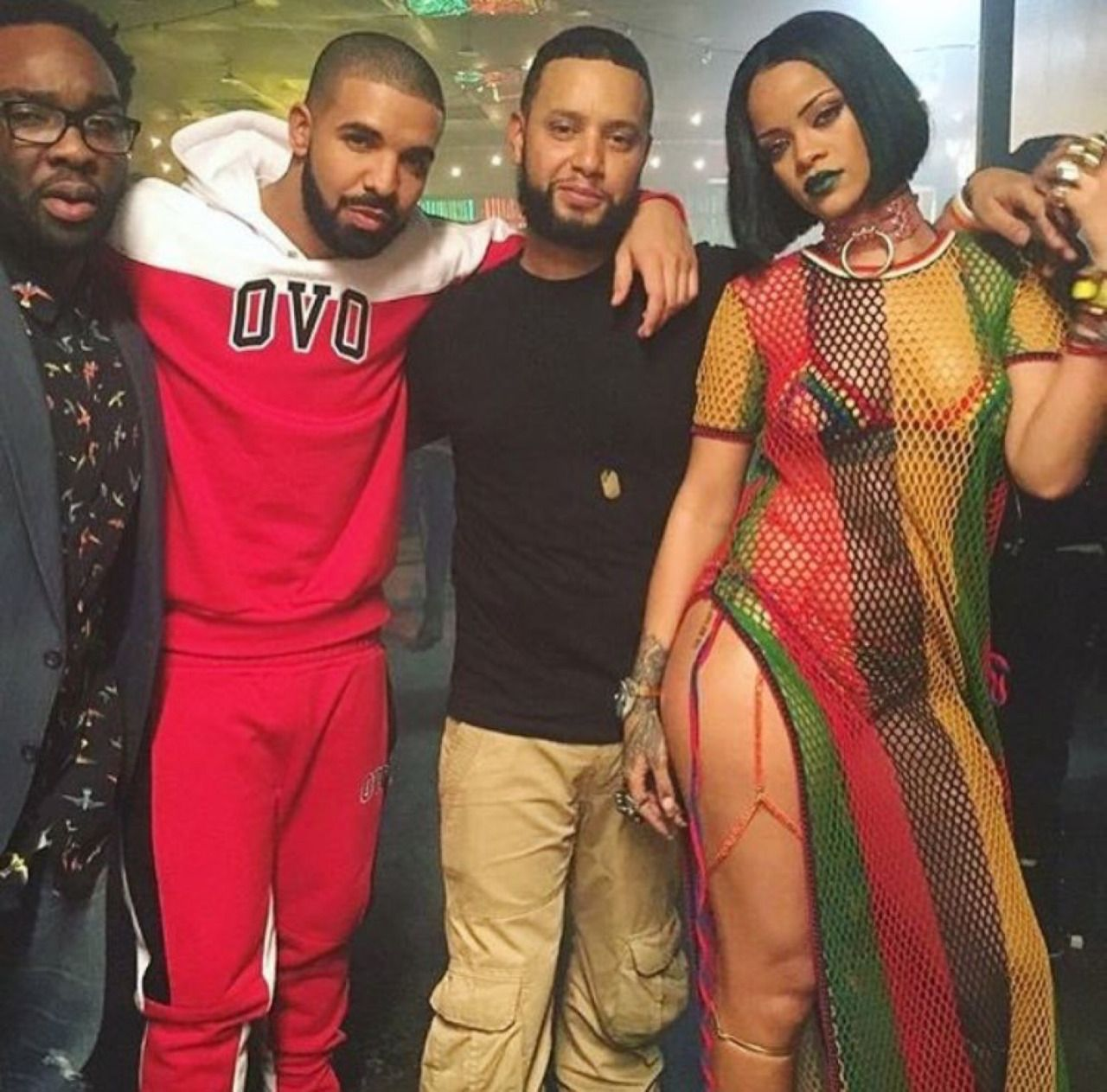 """February 5: Rihanna & Drake on the set of """"Work"""" video in Toronto, Canada."""