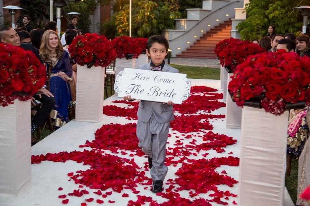 Red Aisle Decor | Mehndi Ceremony | California and International Wedding Planner