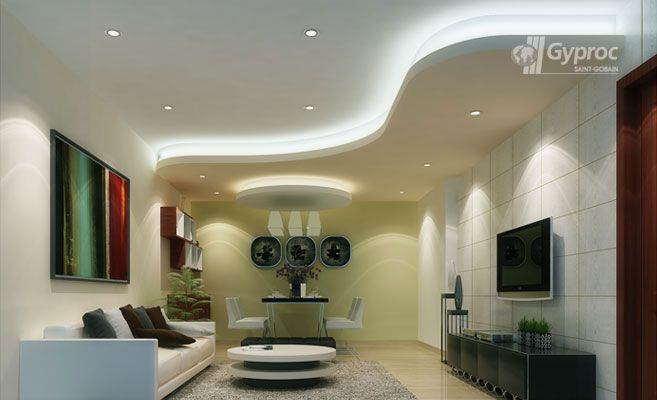 False Ceiling Designs For Living Room | Saint Gobain Gyproc India Part 85