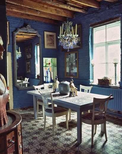 French Blue Possible Contender For Dining Area As Stripe Or