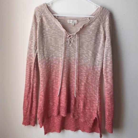 Pretty pink sweater Comfy and cute sweater- lightly worn Olive ...