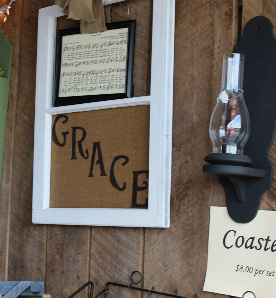Old window amazing grace Bottle opener wall, Amazing