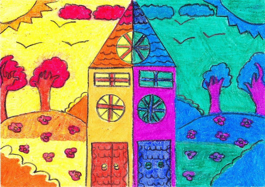 Hot And Cold Colors By Pocholali D4q81x2 Jpg 900 636 Pixeles Colores Calidos Y Frios Dibujos Calidos Y Frios Arte Elemental
