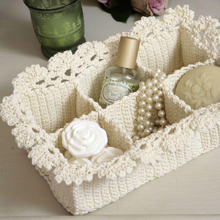 Crochet parfait: panier spa en dentelle   – diy