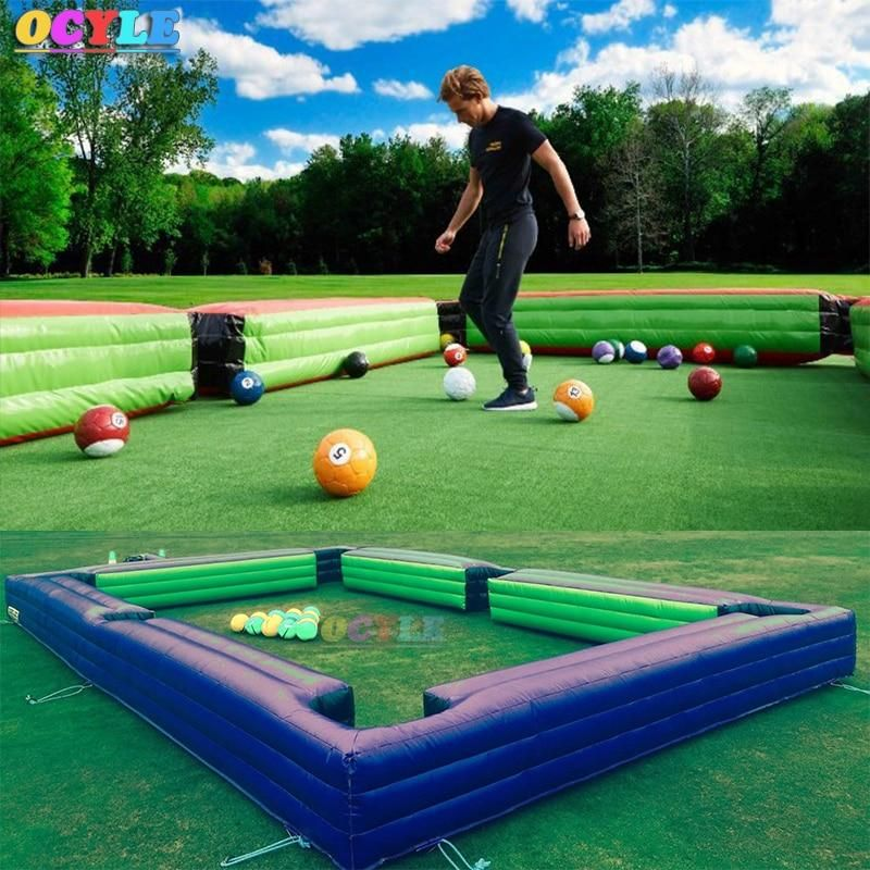 8*5m/12*6m inflatable football snook ball table,billiard