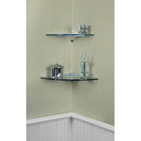 Corner glass wall mount shelf Shelves Pinterest Wall mounted